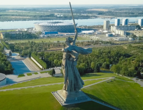 Monitoring a 85m Russian landmark statue  while the World Cup is in full swing